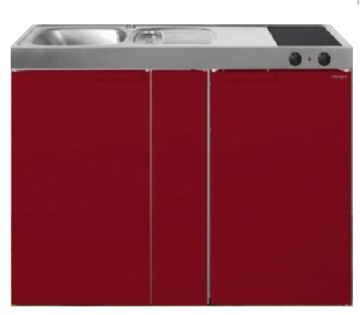 MK 120B Bordeauxrood met koelkast  RAI-9533