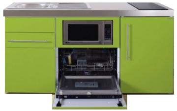 MPGSM 160 Groen met koelkast, vaatwasser en magnetron  RAI-987