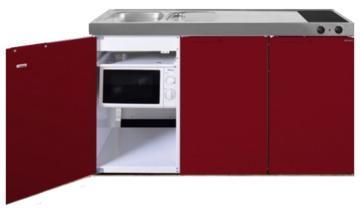 MKM 150 Rood met  losse magnetron en koelkast RAI-336
