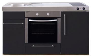 MPB 150 Zwart mat met koelkast en oven RAI-938