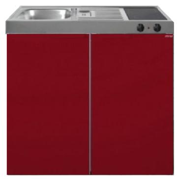 MK 100 Bordeauxrood  met koelkast  RAI-9522