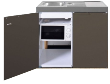 MKM 100 Bruin metalic met koelkast en losse magnetron RAI-9577