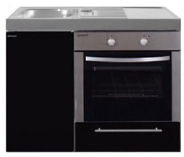 MKB 100 Zwart metalic met  oven RAI-9542