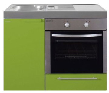 MKB 100 Groen met  oven RAI-9546