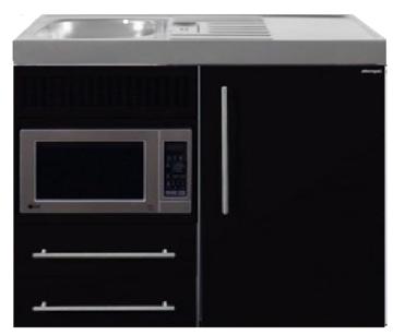 MPM 100 Zwart metalic met koelkast en magnetron RAI-9518