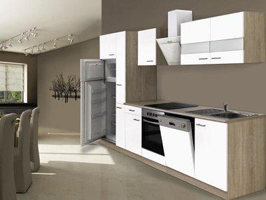 Keuken wit 310cm HUS-1398