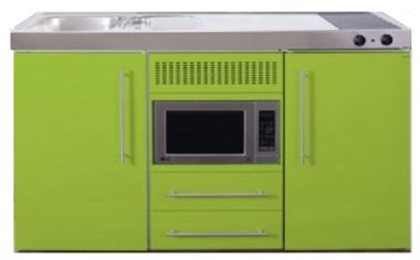 MPM 150 Groen met koelkast en magnetron RAI-952