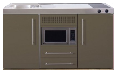 MPM 150 Bruin met koelkast en magnetron RAI-955