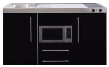 MPM 150 Zwart metalic met koelkast en magnetron RAI-957