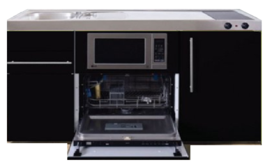 MPGSM 150 Zwart metalic met vaatwasser, koelkast en magnetron RAI-924