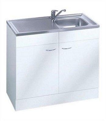 Keukenblok Klassiek 50 + RVS aanrecht 100cm x 50cm SPL100-6-OPTI-64