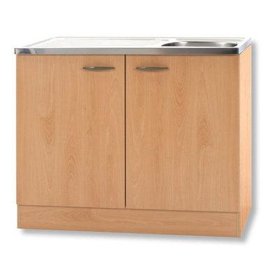 Keukenblok Klassiek 50 Beuken met RVS aanrecht 100cm x 50cm SPL100-6-OPTI-68