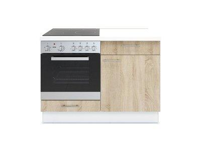 3-in-1 minikeuken 120 cm x 60 cm incl. oven + kookplaat + bergruimte zonder spoelbak RAI-1599