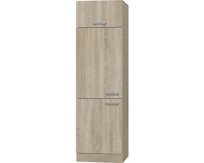 Hogekast / koelkastkast Napels acacia-Decor (BxHxD) 60,0x206,8x57,1 cm HRG-0195