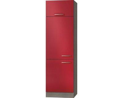 Omgezette kast Imola signaal rood satijn (BxHxD) 60,0x206,8x57,1 cm HRG-2209