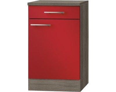 Kabinet Imola signaal rood satijn (BxHxD) 50,0x84,8x60,0 cm HRG-193