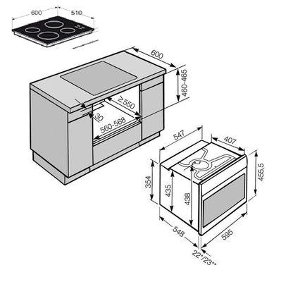 onderbouw oven 4-pit kramische kookplaat