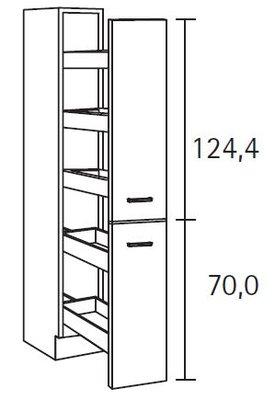 Apothekerskast 206cm hoog