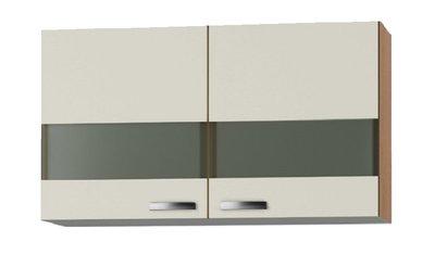 Bovenkast Klassiek 50 Cream met glas,  100cm x 32 cm OPTI-39