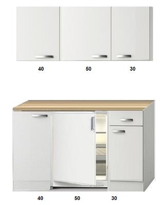 Kitchenette 120 CM incl koelkast en bovenkasten RAI-2258