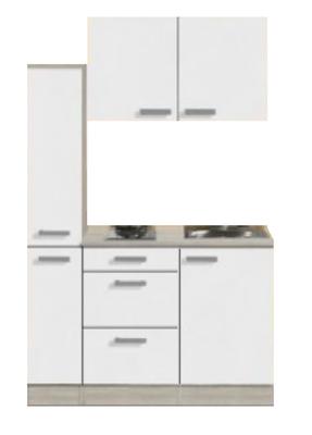 Kitchenette Genf 130cm met apothekerskast en e-kookplaat RAI-44301