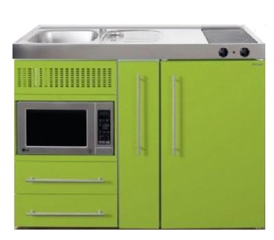 MPM 120 A Groen met koelkast, apothekerskast en magnetron RAI-9540
