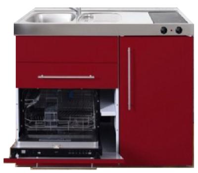 MPGS 120 Bordeauxrood met vaatwasser en koelkast RAI-9593