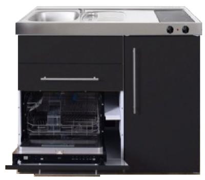 MPGS 120 Zwart mat met vaatwasser en koelkast RAI-9598