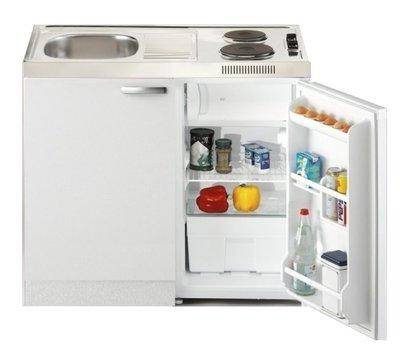 Keukenblok Lagos 100cm met koelkast en 2-pit kookplaat RAI-2666