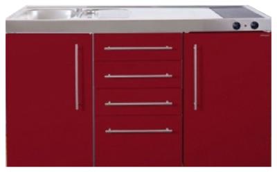 MPS4 150 Bordeauxrood met koelkast en 4 ladekasten RAI-9532