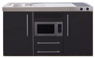 MPM 150 Zwart mat met koelkast en magnetron RAI-956