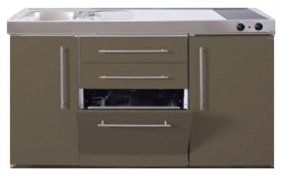 MPGS 150 Bruin met vaatwasser en koelkast RAI-9547