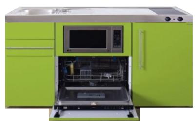 MPGSM 150 Groen met vaatwasser, koelkast en magnetron RAI-927