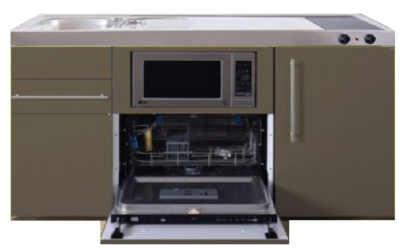 MPGSM 150 Bruin met vaatwasser, koelkast en magnetron RAI-923