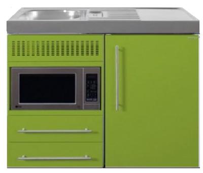 MPM 100 Groen met koelkast en magnetron RAI-9515