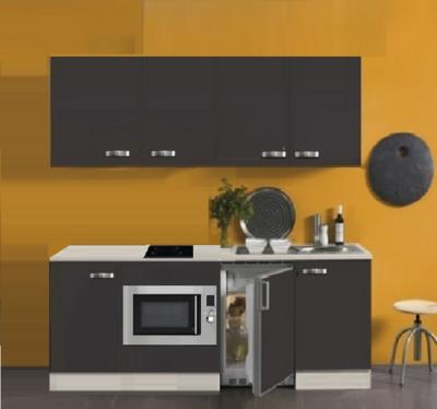 Kitchenette FARO 210cm met koelkast, magnetron en 2-pit keramische kookplaat RAI-528