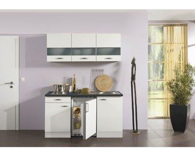 Kitchenette Lagos wit hoogglans 150cm OPTI-125