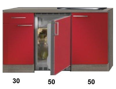 Kitchenette Imola Rood 130cm  HRG-88