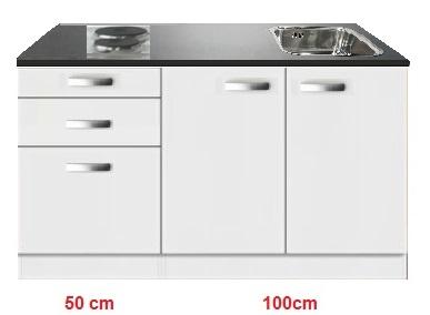 Kitchenette Lagos 150cm incl spoelbak en e-kookplaat RAI-85