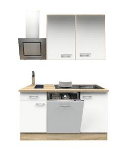 Kitchenette 180cm wit zijdeglans incl inbouw apparatuur