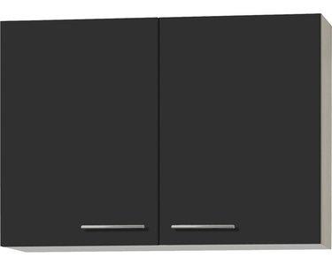 Wandkast Antraciet Hoogglans 100 cm acacia decor RAI-431209