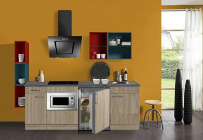 keukenblok 180 met inbouw koelkast,, magnetron en keramisch kookplaat