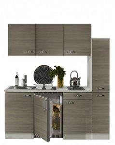 Keukenblok 180 grjs-bruin incl koelkast en e-kookplaat RAI-33401