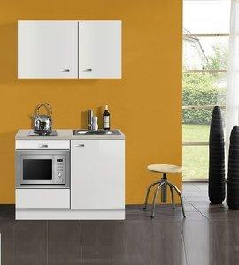 Kitchenette Lagos wit Hoogglans 100cm met onderbouw magnetron OPTI-0109