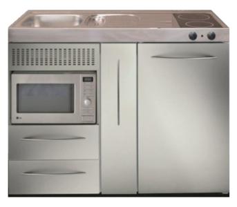 MPM 120 A RVS met koelkast, apothekerskast en magnetron RAI-9538