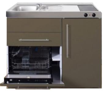 MPGS 120 Bruin met vaatwasser en koelkast RAI-9591