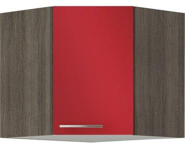 Hoek wandkast Rood (BxHxD) 60,0x57,6x34,6 cm OED606-9-85