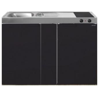 MK 120B Zwart mat met koelkast  RAI-9535