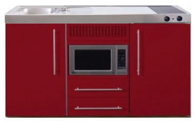 MPM 150 Rood met koelkast en magnetron RAI-953