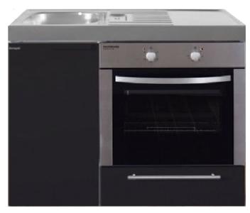 MKB 100 Zwart mat met  oven RAI-9543